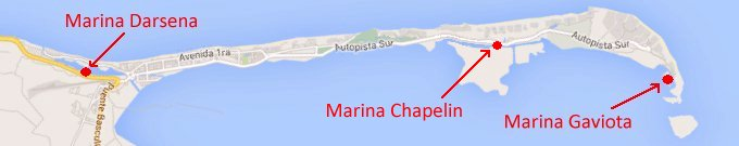 map of Varadero marinas